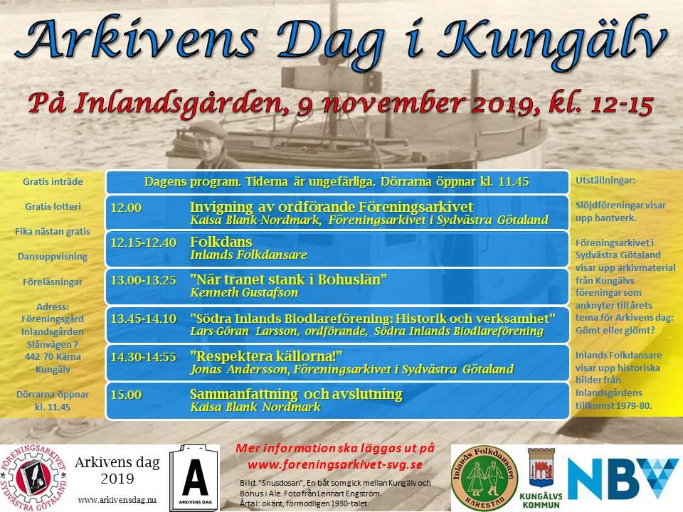 program för Arkivens dag i Kärna